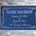 Headstone With Cement Edging