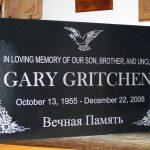 Black Polished Granite Headstone
